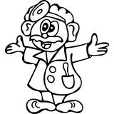 Funny Doctor  coloring pages Stock Photos