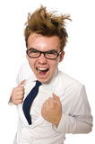 Funny doctor isolated Stock Image