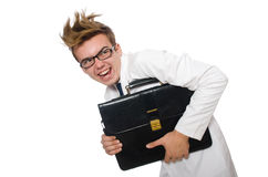 Funny doctor isolated Royalty Free Stock Image