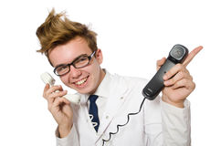 Funny doctor isolated Stock Photo