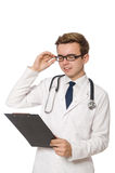 Funny doctor isolated Stock Images