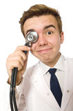 Funny doctor isolated Stock Photography