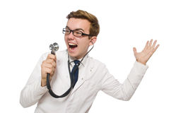 Funny doctor isolated Royalty Free Stock Photo