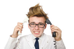 Funny doctor isolated Stock Photos