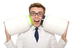 Funny doctor Stock Image