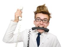 Funny doctor Royalty Free Stock Photos