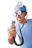 Funny doctor isolated on white Stock Image