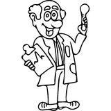 Funny doctor  kids coloring pages Royalty Free Stock Images