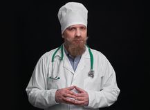 Funny doctor with mustache and beard Stock Image
