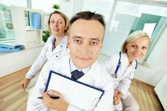 Funny doctors Stock Photo