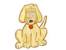 Funny dog artistic drawing Royalty Free Stock Photography