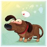 Funny dog with balloon. Stock Image
