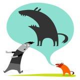Funny dog barking Royalty Free Stock Image