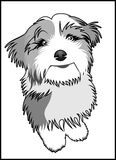 Funny Dog cartoon vector. Funny Dog Cartoon Smiling Cute available in eps suitable for sticker, t-shirt, mug, magazine, website, etc Stock Image
