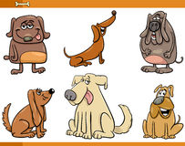 Funny dog characters set Royalty Free Stock Photography