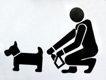 Funny Dog Sign Royalty Free Stock Photo
