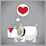 Funny doggy with heart. Royalty Free Stock Images