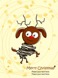 Funny doggy sketch style background for christmas. Royalty Free Stock Image