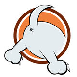 Funny dogs back. Funny cartoon illustration of a dogs back Royalty Free Stock Image