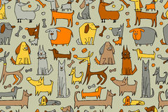 Funny dogs collection, seamless pattern for your design Stock Photography