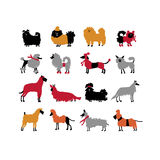Funny dogs collection, sketch for your design Royalty Free Stock Image