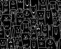 Funny dogs family, seamless pattern for your design Stock Image