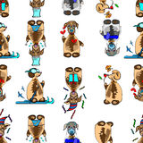 Funny dogs seamless background Royalty Free Stock Photos