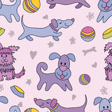 Funny dogs seamless pattern Royalty Free Stock Photos