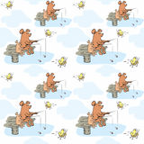 Funny dogs seamless pattern Stock Photo