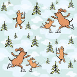 Funny dogs seamless pattern Royalty Free Stock Photography