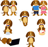 Funny dogs set Stock Image