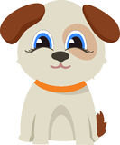 Funny dogVector flat illustration royalty free illustration