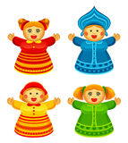 Funny doll. Set on a white background Stock Photography