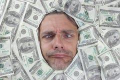 Funny dollar Man Royalty Free Stock Image