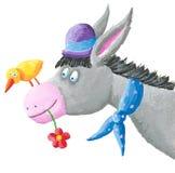 Funny donkey. Illustration of the funny donkey Royalty Free Stock Photo