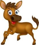 Funny donkey. Illustration of funny donkey cartoon isolated on white Stock Image