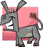 Funny donkey cartoon illustration Stock Photography