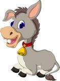 Funny donkey cartoon sitting Stock Photo