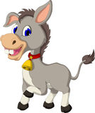 Funny donkey cartoon with wearing bell Stock Photography