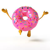 Funny donut character Stock Photography