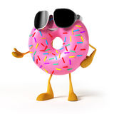 Funny donut character Royalty Free Stock Photo