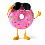 Funny donut character Stock Photos