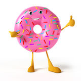 Funny donut character Royalty Free Stock Images