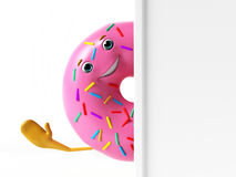 Funny donut character Royalty Free Stock Image