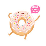Funny donut character Royalty Free Stock Photography