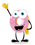 Funny Donut Saying hello Stock Images