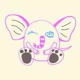 Funny doodle elephant Stock Image