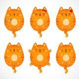 Doodle red cats set royalty free illustration