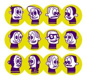 Funny doodles. Funny emotional doodles collection illustration Stock Photos