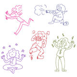 Funny doodles Royalty Free Stock Images